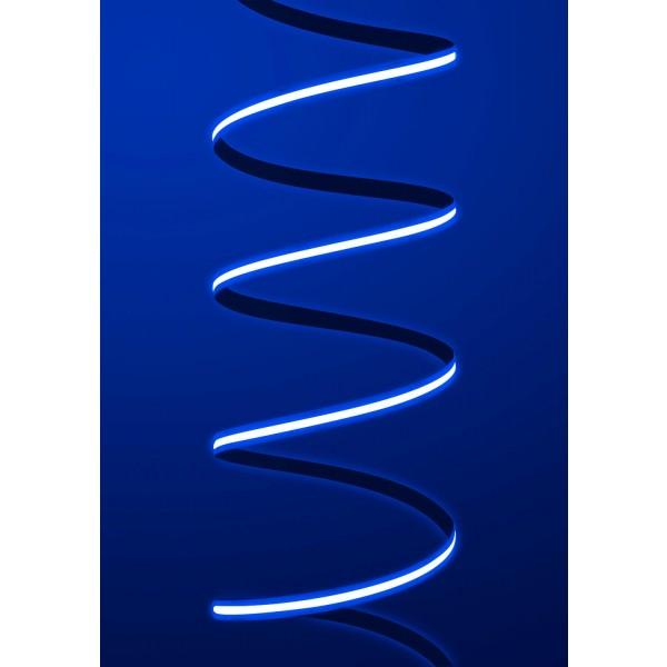 Premium 24V COB LED Streifen blau IP65 - Streifen angeschaltet