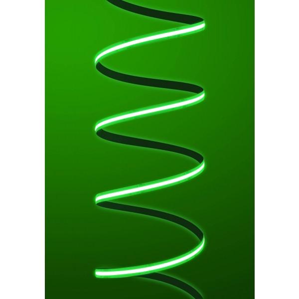 Premium 24V COB LED Streifen gruen IP65 - Streifen angeschaltet