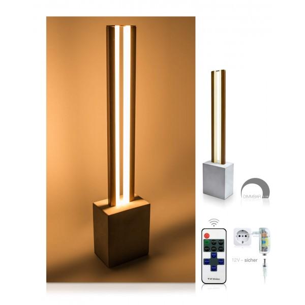 LED Tischleuchte Damon - optionaler Lieferumfang: 12 V Netzteil, 11-Tasten-Fernbedienung