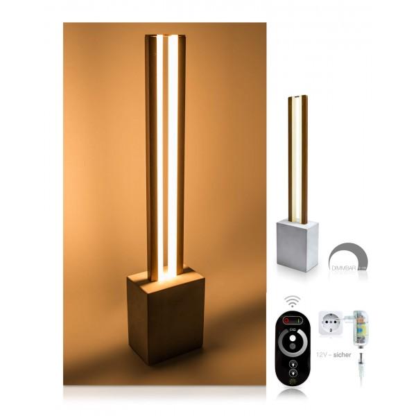 LED Tischleuchte Damon - optionaler Lieferumfang: 12 V Netzteil, Touch-Fernbedienung