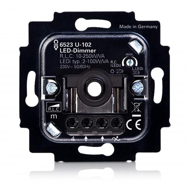 Drehdimmer für einfarbige 230V LED Leuchtmittel