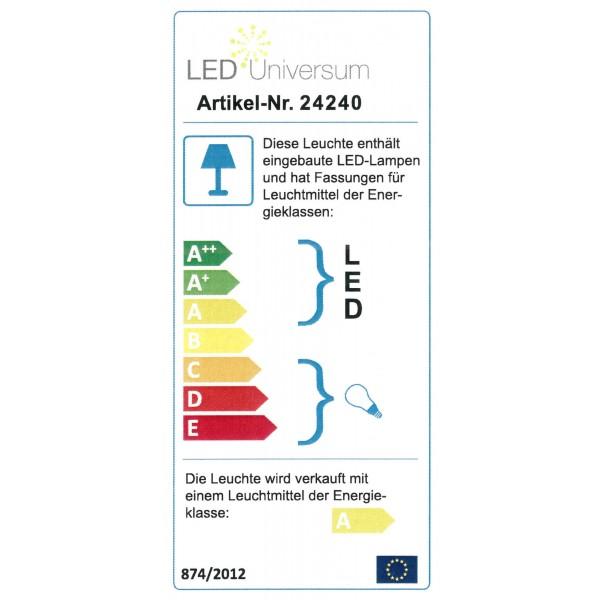 LED-Wegeleuchte mit 2 Steckdosen anthrazit - Energieeffizienz-Label