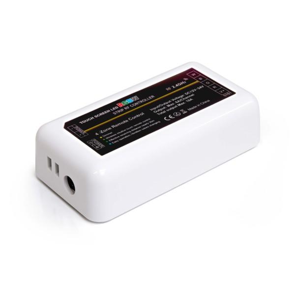 4 Zonen Funkcontroller | RGBW (RGB) | 2,4GHz (Anschlüsse Netzteil)