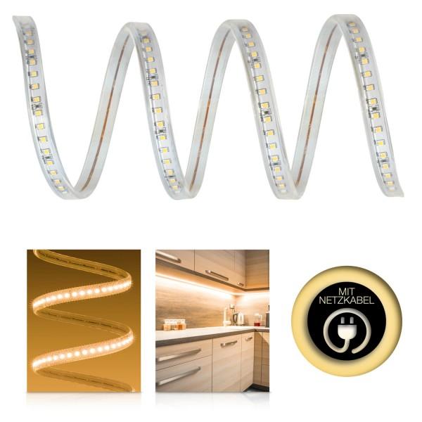 Professional High Power SMD2835 230V LED Streifen – warmweiß