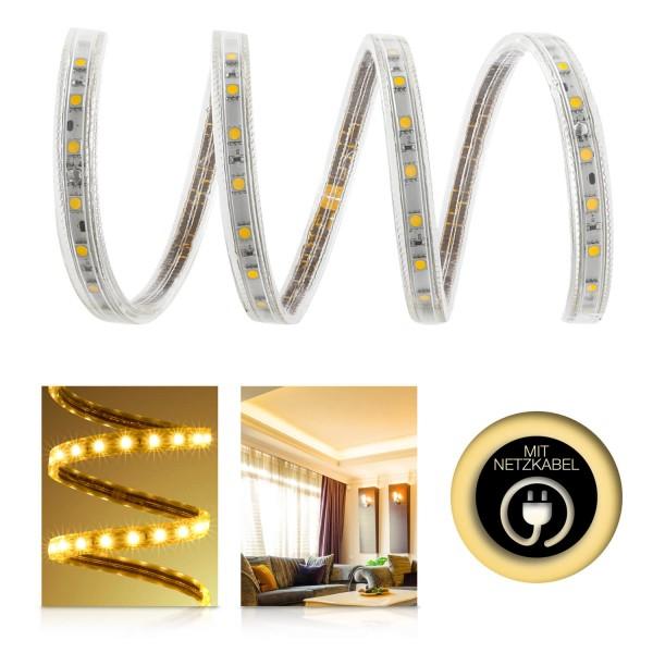 Professional High Power SMD5050 230V LED Streifen – warmweiß