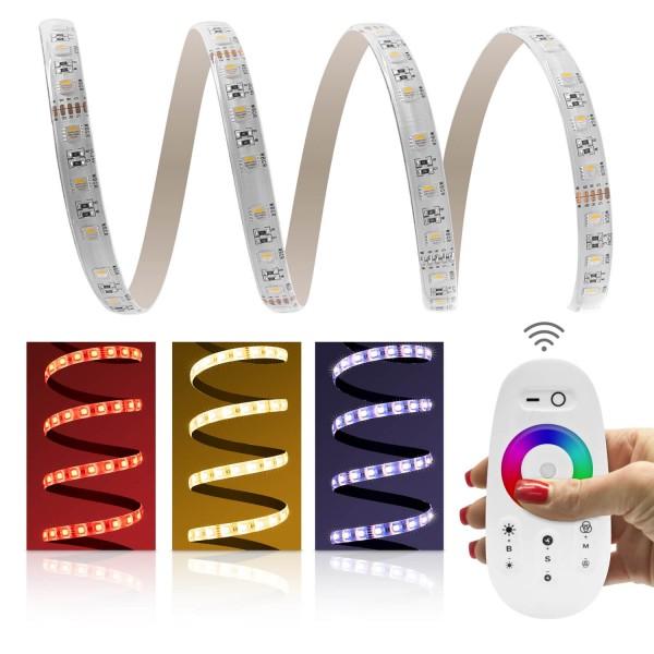 4 in 1 RGB WW LED Set mit Funk Steuerung und Netzteil Produktbild