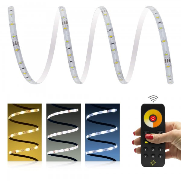 Comfort 12V CCT LED Streifen 60 LED/m - 6-Zonen-Funk-Set