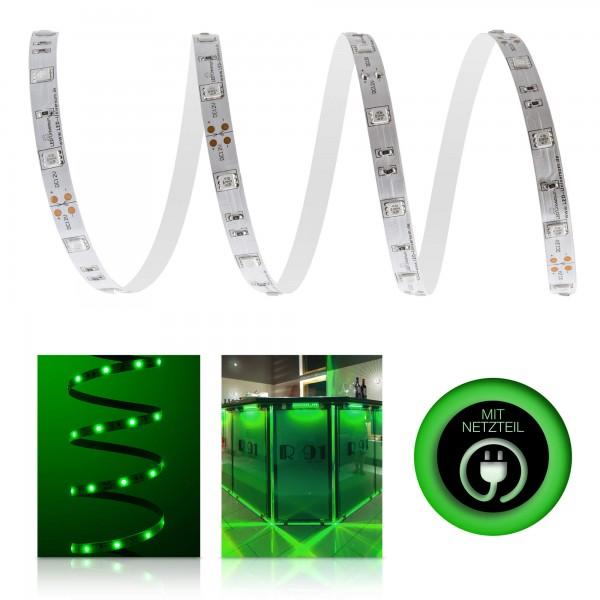 Classic 12V LED Streifen Set grün 30 LED/m - mit Netzteil