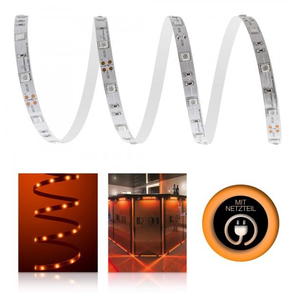 Classic 12V LED Streifen Set orange 30 LED/m - mit Netzteil