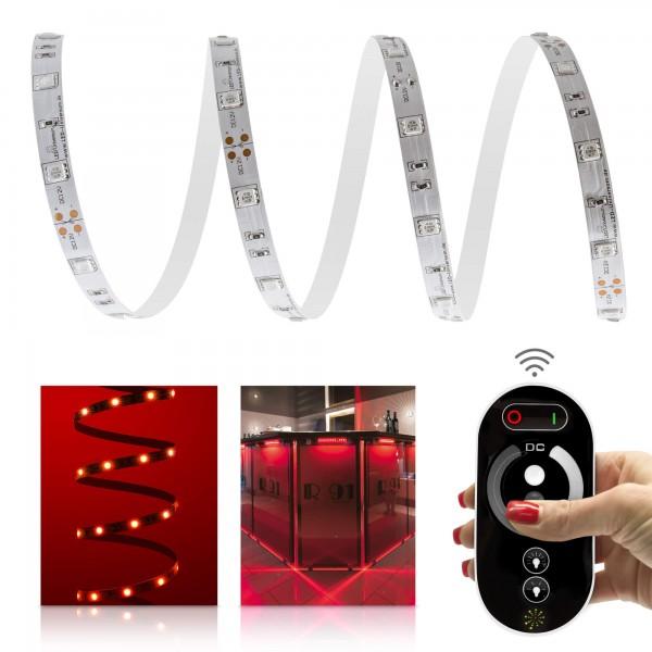 Classic 12V LED Streifen Set rot 30 LED/m - mit Funkfernbedienung
