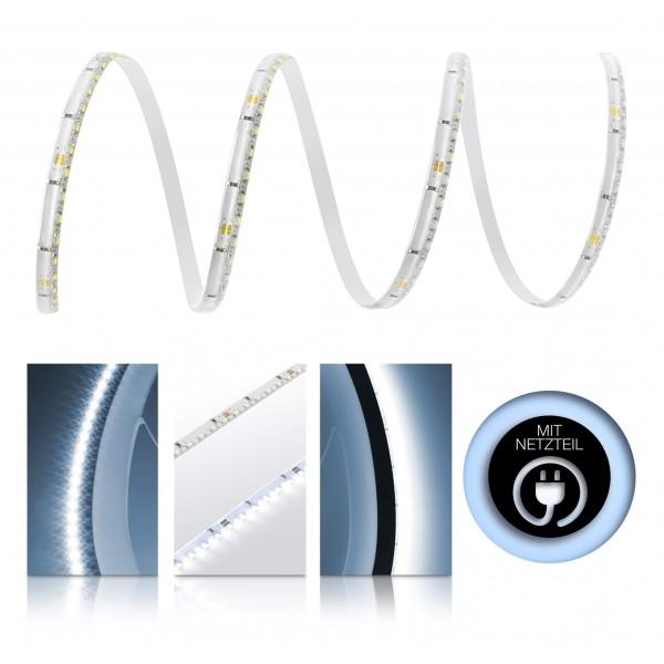 Premium 24V LED SideView Streifen Set 120 LED/m - kaltweiß