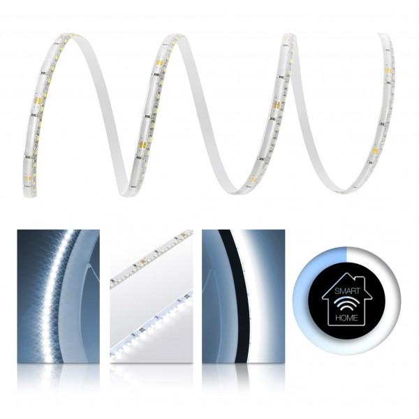 Premium LED SideView Streifen kaltweiß 120 LED/m - Smart Home Funk-Set