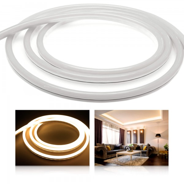 Premium 24V NeonFlex warmweiß LED Streifen
