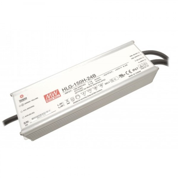 Dimmbares LED Netzteil MeanWell MeanWell HLG-150H-24B 150 W 24 V/DC 6,3 A LED Konstantspannung (Default)