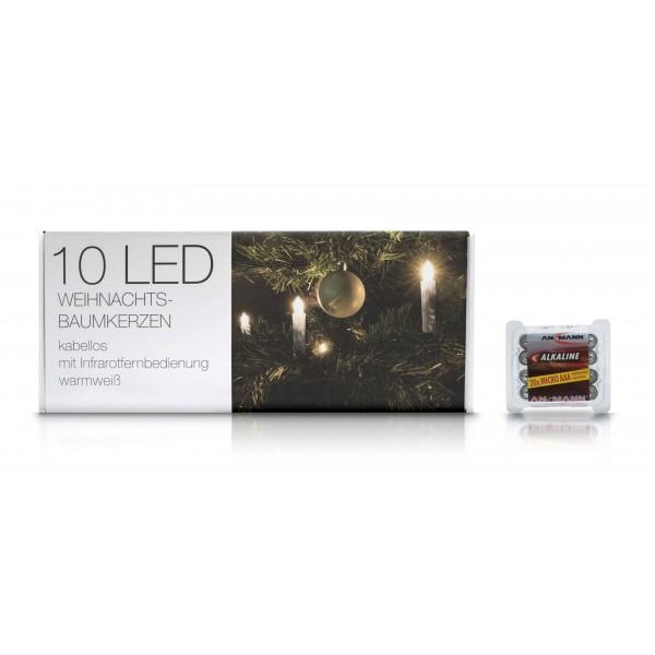 LED Weihnachtsbaumkerzen - Lieferung mit 20?- Micro AAA Batterien von Ansmann
