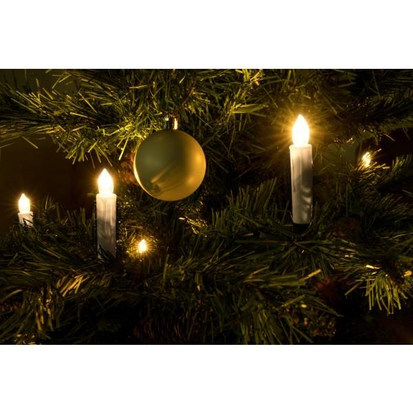 LED Weihnachtsbaumkerzen - kabellos mit Infrarotfernbedienung
