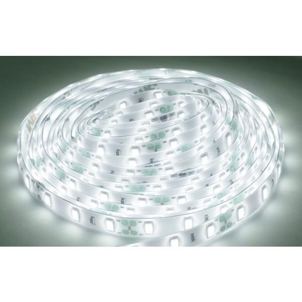 kaltweißer High Power LED Streifen (60 x 5630 SMD Led/m, 1400lm/m, IP65, 12V) inkl. Controller, Funkfernbedienung und Netzteil - Länge selbst wählen (1 bis 5 Meter) (Default)
