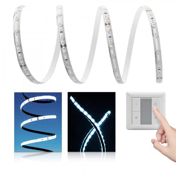 Premium LED Streifen kaltweiß 60 LED/m - mit Funklichtschalter