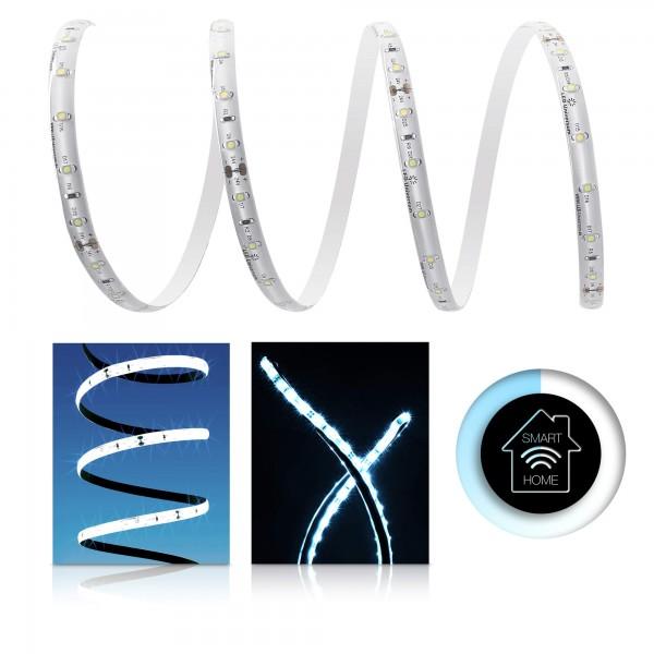 Premium LED Streifen kaltwei?? 60 LED/m - Smart Home Funk-Set