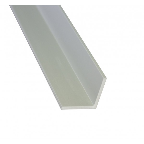 L-Leiste | 15 x 10mm | Brushed Aluminium - 1 Meter Länge (Default)