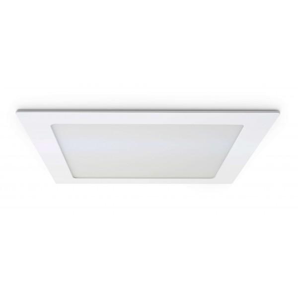 Quadratisches LED Panel - 18W - ausgeschaltet - Decke