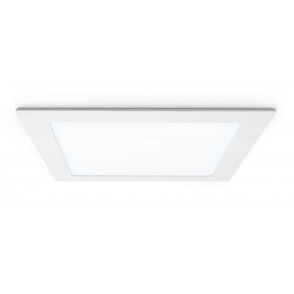 Quadratisches LED Panel - 18W - kaltweiß - Decke