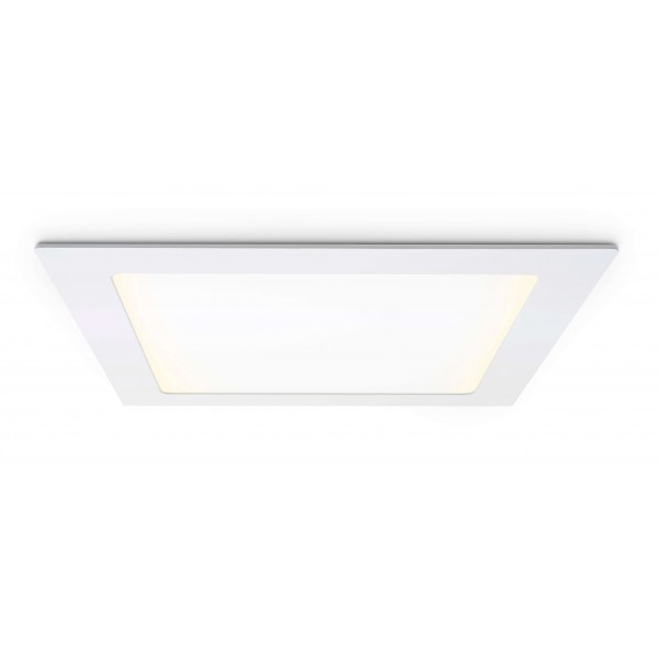 Quadratisches LED Panel - 18W - warmweiß - Decke