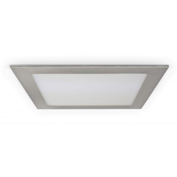 Quadratisches LED Panel mit Metallrahmen - 18W - ausgeschaltet - Decke