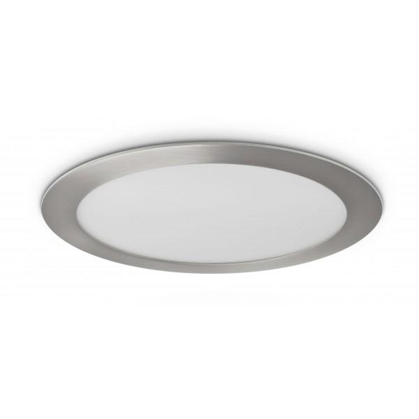 Rundes LED Panel mit Metallrahmen - 18W - ausgeschaltet - Decke