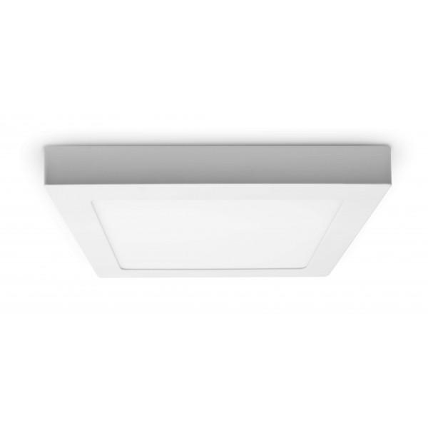 LED Panel zur Aufputzmontage - 18W  - quadratisch - ausgeschaltet - Decke