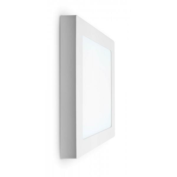 LED Panel zur Aufputzmontage - 18W  - quadratisch - kaltweiß - Wand