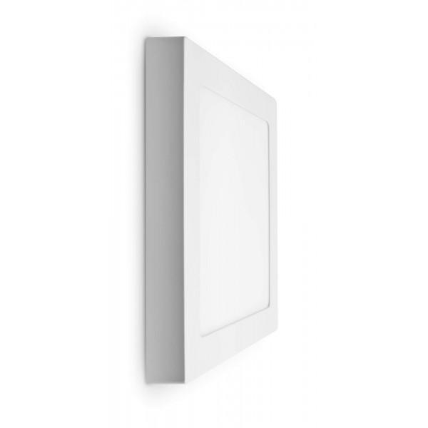 LED Panel zur Aufputzmontage - 18W  - quadratisch - ausgeschaltet - Wand