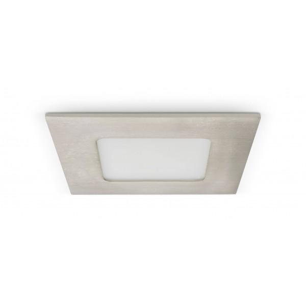 Quadratisches LED Panel mit Metallrahmen - 4W - ausgeschaltet - Decke