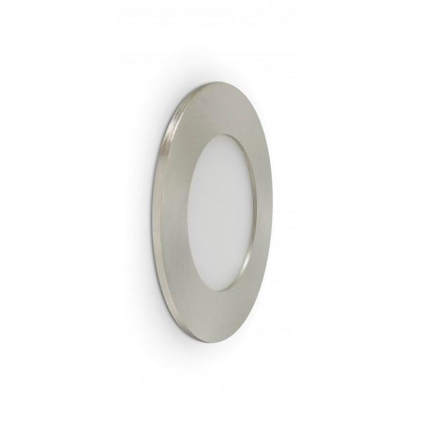 Rundes LED Panel mit Metallrahmen - 4W - ausgeschaltet - Wand