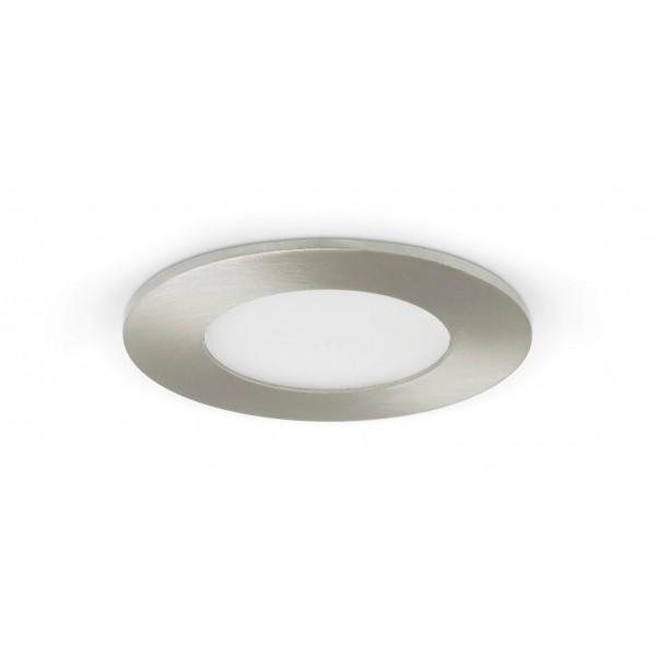 Rundes LED Panel mit Metallrahmen - 4W - ausgeschaltet - Decke