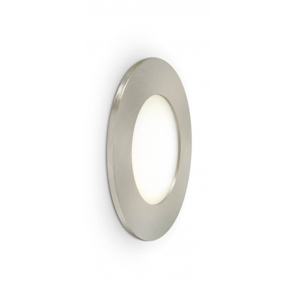 Rundes LED Panel mit Metallrahmen - 4W - warmwei?? - Wand