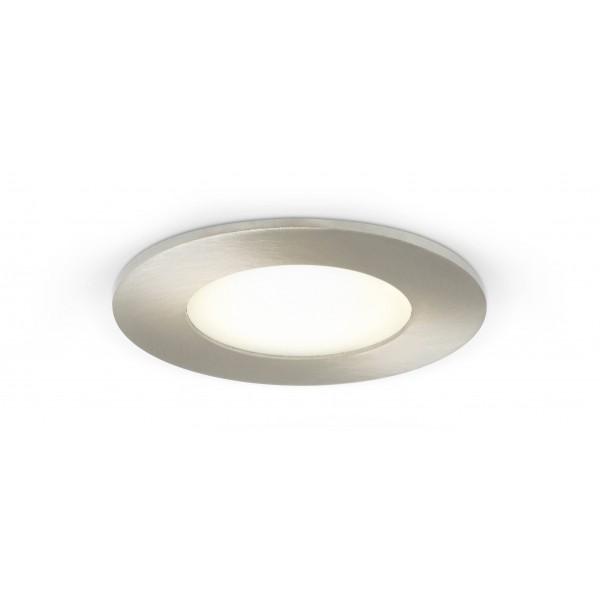 Rundes LED Panel mit Metallrahmen - 4W - eingeschaltet ??? Decke