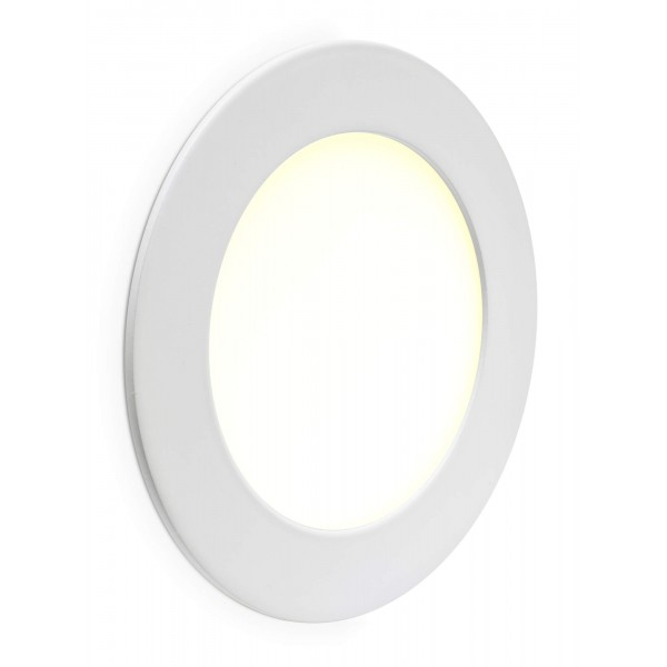 Rundes LED Panel - 6W - angeschaltet - Wand