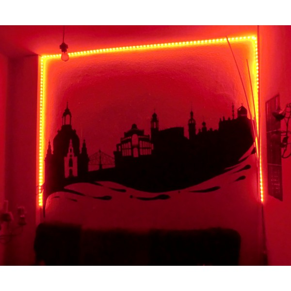 Wandbeleuchtung in rot