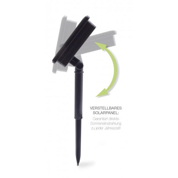 LED Solarlichterkette Maril - verstellbares Solarpanel