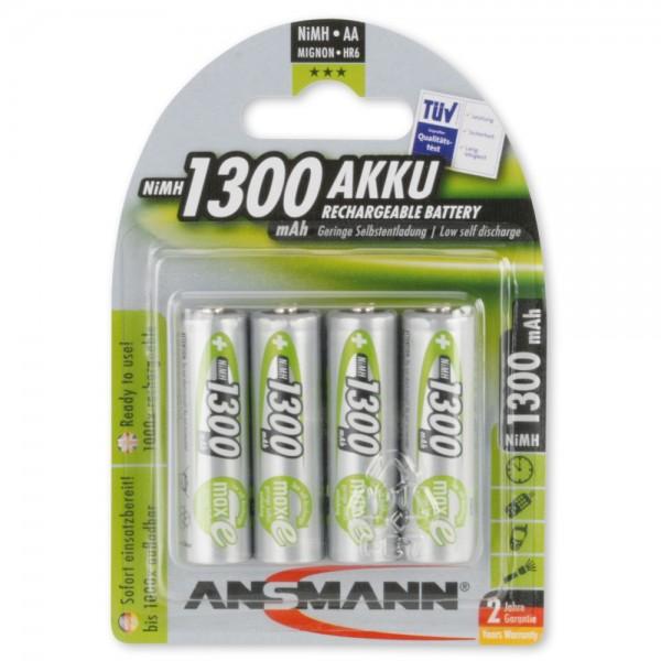 NiMH Akku Mignon AA 1300mAh maxE (4er Pack)