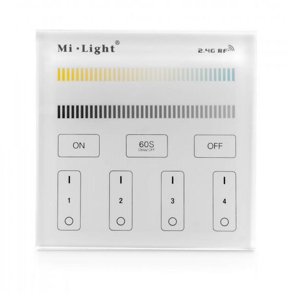 Milight 4 Zonen Wandsteuerung CCT Unterputz 230V 2,4GHz