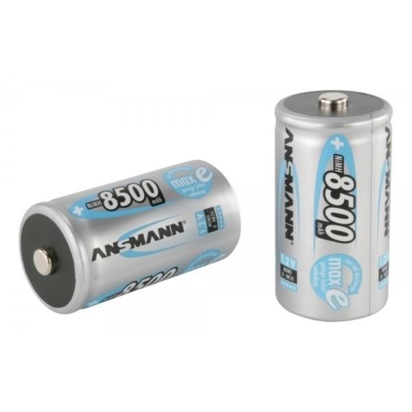 ANSMANN NiMH Akku Batterie Mono D Typ 8500mAh 1,2V maxE im 2er Blister