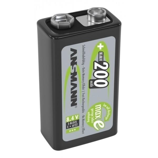 ANSMANN NiMH Akku Batterie LSD 9V E-Block Typ 200 maxE, 1er Blister
