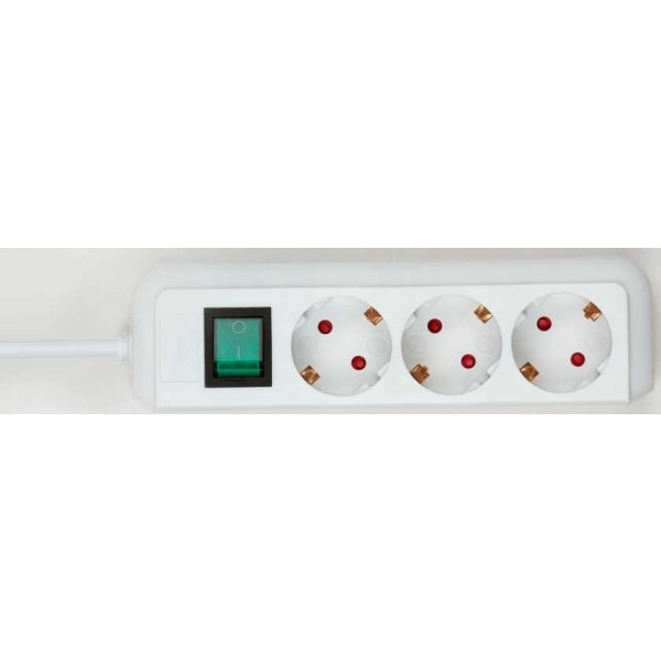 Brennenstuhl Eco-Line Steckdosenleiste mit Schalter 3-fach - Detailansicht von oben