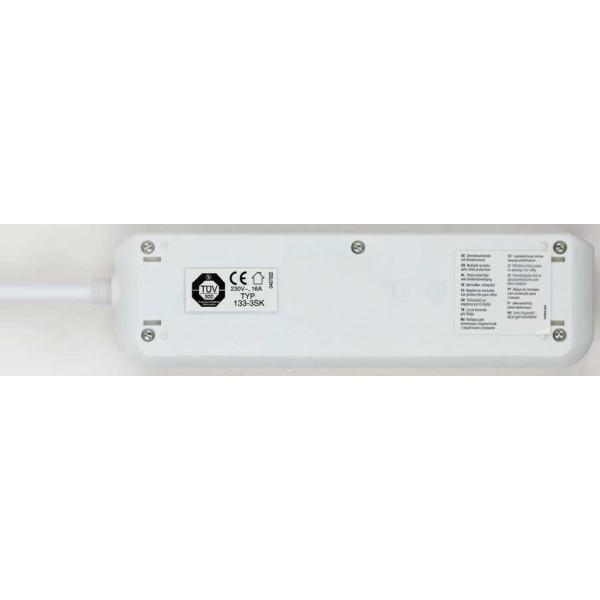 Brennenstuhl Eco-Line Steckdosenleiste mit Schalter 3-fach - Detailansicht von unten