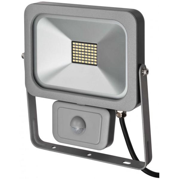Brennenstuhl LED Strahler mit Bewegungsmelder 56 LEDs silber