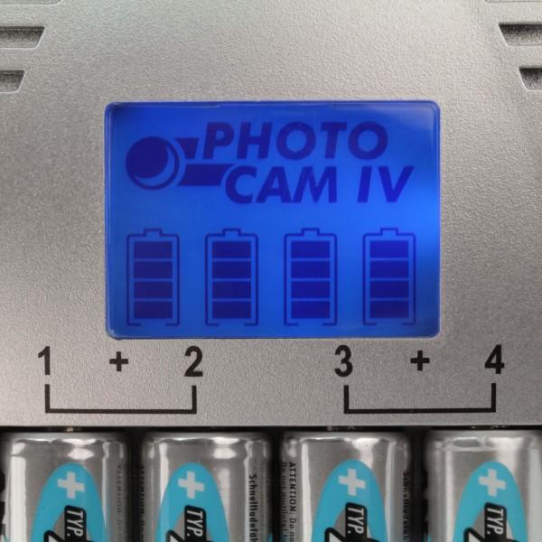 ANSMANN PhotoCam IV Steckerladeger??t - Detailbild - LCD Display (Lieferung ohne Akkus)