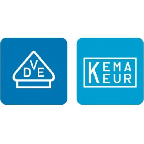 Kopp Qualitätsprodukt mit VDE Siegel und KEMA-KEUR-Zeichen