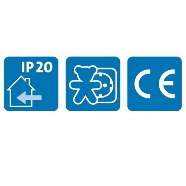 Kopp Verlängerung: Schutzkontakt- Winkelstecker und Schutzkontakt-Kupplung, H05VV-F mit erhöhtem Berührungsschutz, 3x1,5mm², 3-adrig, IP20, 16A, 250V AC